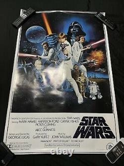 Very Clean Original Star Wars 1977 Movie Poster Litho PTW-531 24 x 36 No Rips