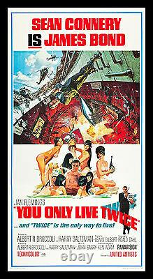 YOU ONLY LIVE TWICE CineMasterpieces THREE 3 SHEET 1967 MOVIE POSTER JAMES BOND